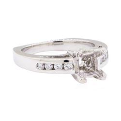 Platinum 0.25 ctw Diamond Princess Semi-mount Ring