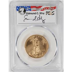 2016 $25 American Gold Eagle Coin PCGS MS70 First Strike Edmund C. Moy Signature