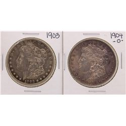 Lot of 1903 & 1904-O $1 Morgan Silver Dollar Coins