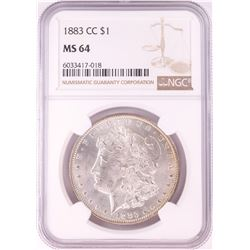1883-CC $1 Morgan Silver Dollar Coin NGC MS64