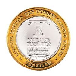 .999 Silver The Venetian Las Vegas Nevada $10 Casino Limited Edition Gaming Token