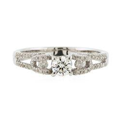 14KT White Gold 0.59 ctw Diamond Ring
