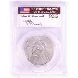 2014 $100 Platinum American Eagle Coin PCGS MS70 FS John Mercanti Signed