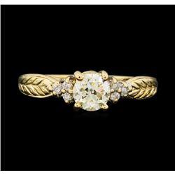 14KT Yellow Gold 0.78 ctw Diamond Ring