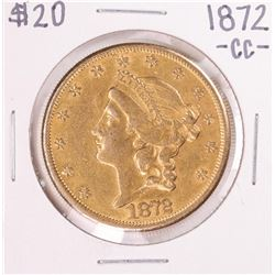 1872-CC $20 Liberty Head Double Eagle Gold Coin