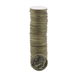 Roll of (50) Brilliant Uncirculated 1954-D Roosevelt Dime Coins