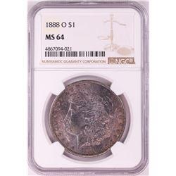 1888-O $1 Morgan Silver Dollar Coin NGC MS64