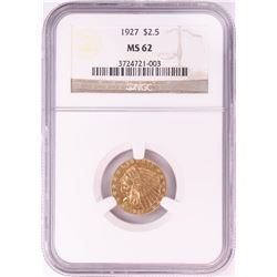 1927 $2 1/2 Indian Head Quarter Eagle Gold Coin NGC MS63
