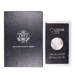 1891-CC $1 Morgan Silver Dollar Coin GSA Uncirculated w/ Box