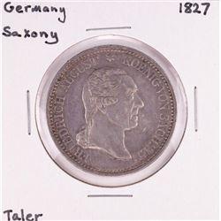 1827 Germany Saxony Taler Coin