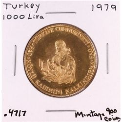 1979 Turkey 1000 Lira Gold Coin