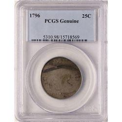 1796 Draped Bust Quarter Coin PCGS Genuine