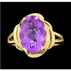 14KT Yellow Gold Ladies 7.00 ctw Amethyst Ring