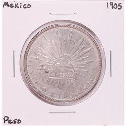 1905 Mexico Un Peso Silver Coin