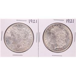 Lot of (2) 1921 $1 Morgan Silver Dollar Coins