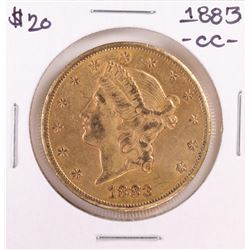 1883-CC $20 Liberty Head Double Eagle Gold Coin