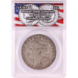 1878-S $1 Morgan Silver Dollar Coin ANACS Genuine