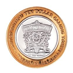 .999 Silver Treasure Island Las Vegas, Nevada $10 Casino Limited Edition Gaming Token
