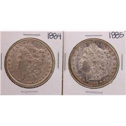Lot of 1884-1885 $1 Morgan Silver Dollar Coins