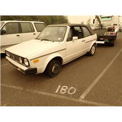 1986 Volkswagen Cabriolet