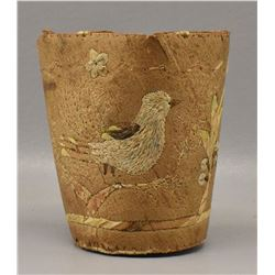 WOODLANDS INDIAN BIRCH BARK CUP