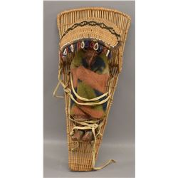 PAIUTE INDIAN BASKETRY DOLL CRADLE