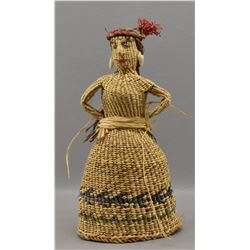 SUQUAMISH INDIAN BASKETRY DOLL