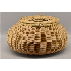 PENOBSCOT INDIAN LIDDED BASKET