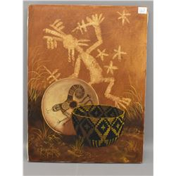 NAVAJO INDIAN PAINTING (YELLOWHAIR)