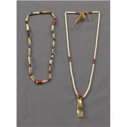 TWO PLAINS INDIAN SHELL NECKLACES