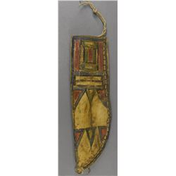 PLAINS INDIAN PAR FLECHE KNIFE SHEATH