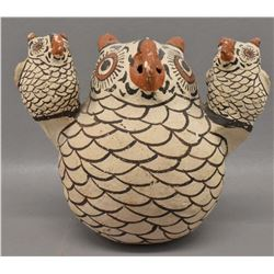 ZUNI INDIAN POTTERY OWL (NELLIE BICA)