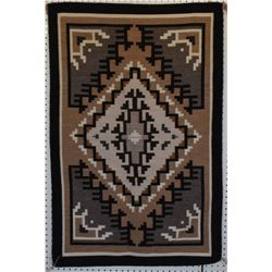 NAVAJO INDIAN TWO GREY HILLS  TEXTILE