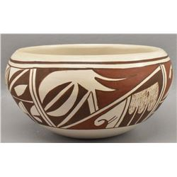 HOPI INDIAN POTTERY BOWL (LORETTA NAVASIE)