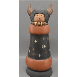 JEMEZ INDIAN POTTERY FIGURE (MARCUS WALL)