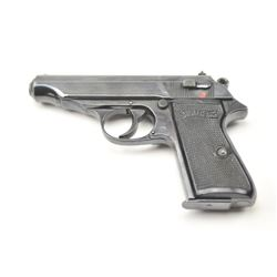 Walther Model PP semi-automatic pistol, 7.65  caliber, Serial #267016p.  The pistol is in  very good