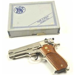 Smith & Wesson DA Model 39-2 semi-automatic  pistol, 9mm caliber, Serial #A298214.  The  pistol is i