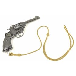Webley Mark IV Double Action Revolver in  .38-200, S/N 137360. 95%-98% war finish  remains with mino