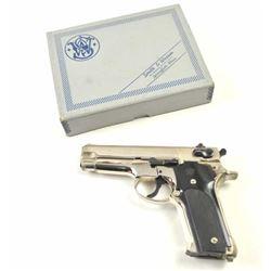 Smith & Wesson DA Model 59 semi-automatic  pistol, 9mm caliber, Serial #A368338.  The  pistol is in