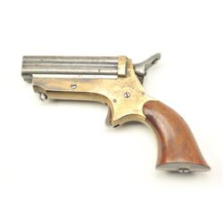 Sharps four-barrel derringer, .22 caliber,  Serial #7901.  The pistol is in very good  plus overall