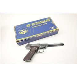Hi-Standard Duramatic M-100 semi-automatic  pistol, .22 Long Rifle caliber, Serial  #466666.  The pi