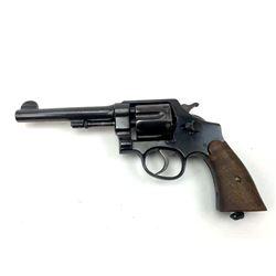 Smith & Wesson U.S. Army Model 1917 DA  revolver, .45 ACP caliber, Serial #86077.   The pistol is in