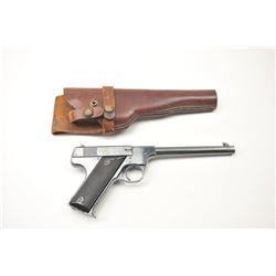 Hi-Standard Model ��B�� semi-automatic pistol,  .22 Long Rifle caliber, Serial 6569.  The  pistol is i