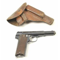 Astra Model 400 Semi-Auto Pistol in 9mm  Parabellum with Nazi proof and holster rig,  S/N 2885. This
