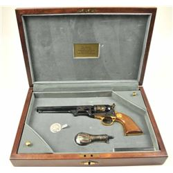 The official Grant and Lee commemorative Navy  revolver with gold decorations and  presentation disp