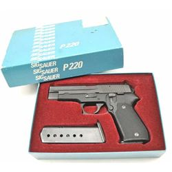 Sig Sauer Model P-220 semi-automatic pistol,  .45 ACP caliber, Serial #G159544.  The pistol  is in f