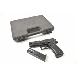 Sig Sauer Model P-226 semi-automatic pistol,  9mm caliber, Serial #U162585.  The pistol is  in fine