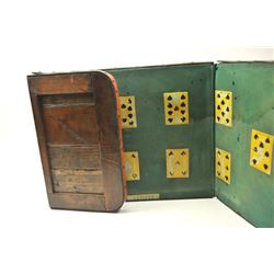Three-piece folding layout in Spades for  playing Faro, the Old West's favorite casino  game.  Fortu