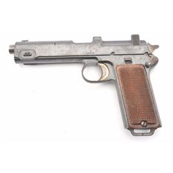 Steyr Model 1912 semi-automatic pistol, 9mm  Steyr caliber, Serial #4199N.  The pistol is  in very g