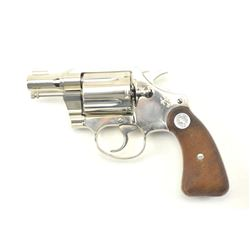 Colt Detective Special DA revolver, .38  Special caliber, Serial #787578.  The pistol  is in nearly